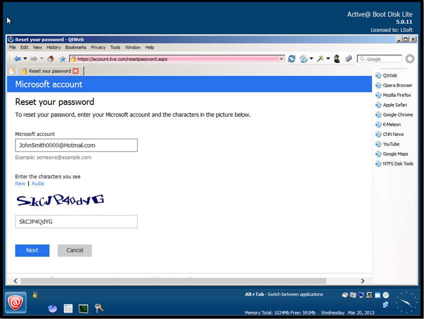 password changer windows 8